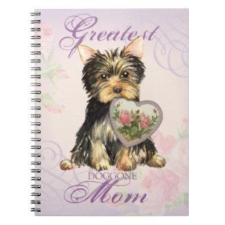Yorkie Heart Mom Note Books