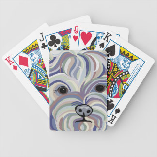 Yorkie in Denim Colors Bicycle Playing Cards