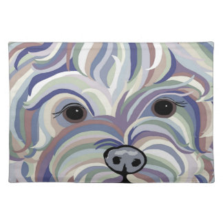 Yorkie in Denim Colors Placemat