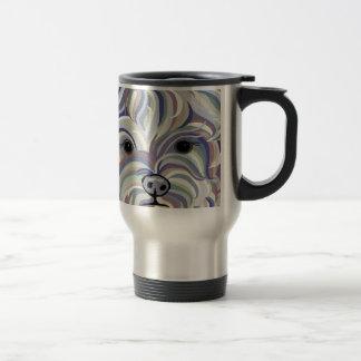 Yorkie in Denim Colors Travel Mug