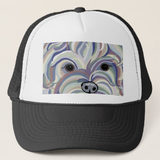 Yorkie in Denim Colors Trucker Hat