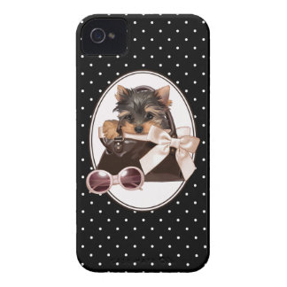Yorkie in Handbag iPhone 4 Case-Mate Case