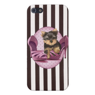 Yorkie in Shoe iPhone 5/5S Covers