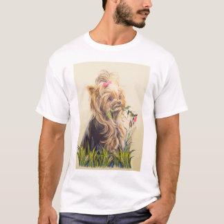 """Yorkie in the Garden"" T-Shirt"
