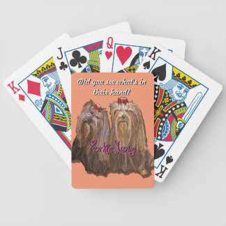 Yorkie Love - Bicycle Playing Cards
