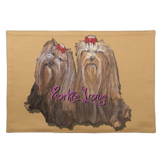 Yorkie Love Collection Placemat