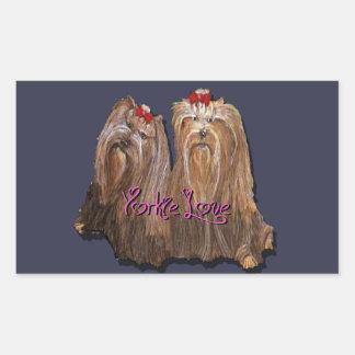 Yorkie Love Collection Rectangular Sticker