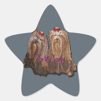 Yorkie Love Collection Star Sticker