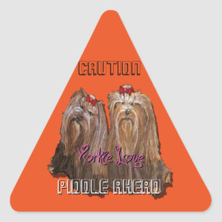 Yorkie Love Collection Triangle Sticker