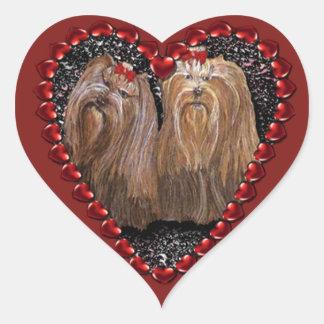 Yorkie Love Heart Sticker