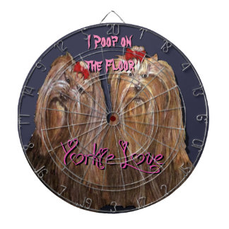 Yorkie Love - ProfiledInk Dart Board