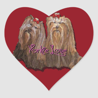 Yorkie Love - Stickers - Sheet of 20