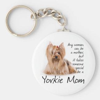 Yorkie Mom Keychain
