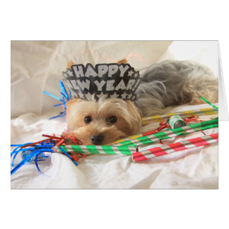 Yorkie New Year Card