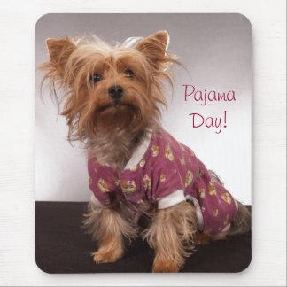Yorkie Pajama Day Mouse Pad