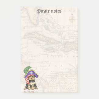 Yorkie Pirate Post-it Notes