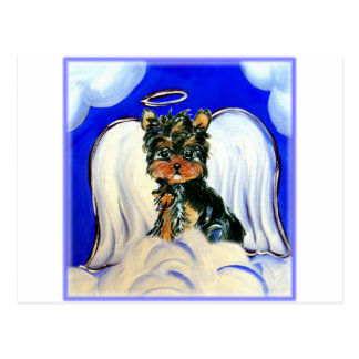 Yorkie Poo Angel Postcard