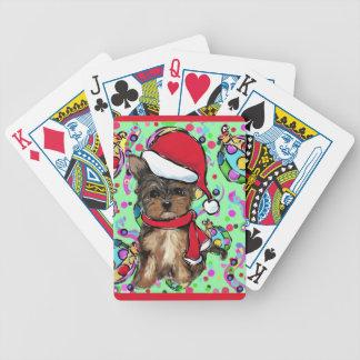 Yorkie Poo Bicycle Playing Cards