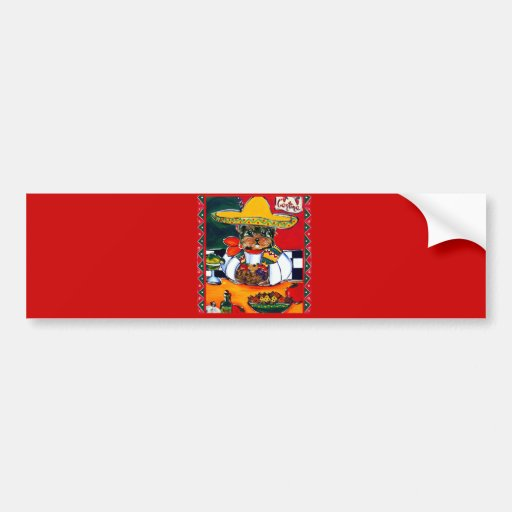 Yorkie Poo Cinco de Mayo Bumper Sticker