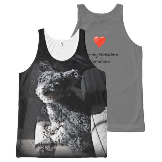 Yorkie Poo Love! Add Your Dog's Name! Yorkiepoo All-Over Print Tank Top
