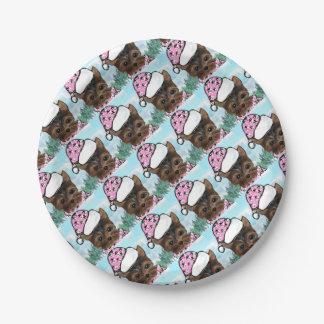 Yorkie Poo Paper Plate