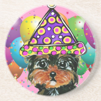 Yorkie Poo Party Dog Coaster