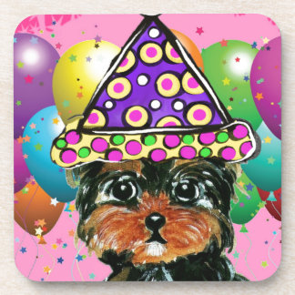 Yorkie Poo Party Dog Drink Coasters