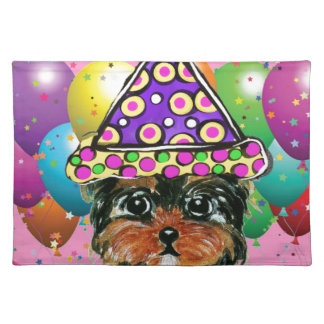 Yorkie Poo Party Dog Placemat
