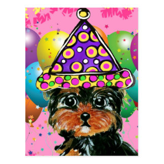 Yorkie Poo Party Dog Postcard