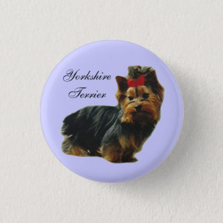 Yorkie Pup button
