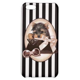 Yorkie Puppy and Handbag iPhone 5C Case