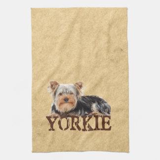 Yorkie Tea Towel