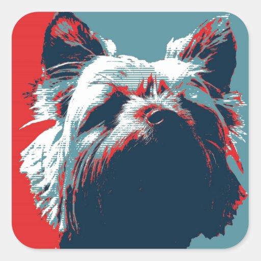Yorkie Terrier Political Parody Design Sticker