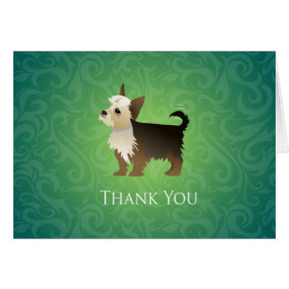 Yorkie Thank You Design Card