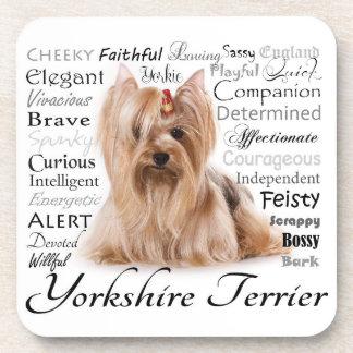 Yorkie Traits Coasters