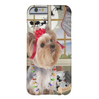 Yorkie Watches For Santa Barely There iPhone 6 Case