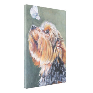 yorkie Yorkshire Terrier Fine Art Painting Canvas Print