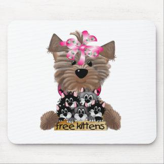 Yorkiegirl free Kittens Mouse Pad