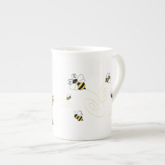 Yorkies and bees tea cup