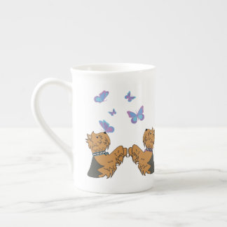 Yorkies and Butterflies Tea Cup