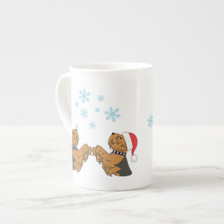 Yorkies and Snowflakes Tea Cup