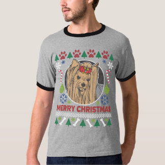 Yorkshire Dog Breed Ugly Christmas Sweater