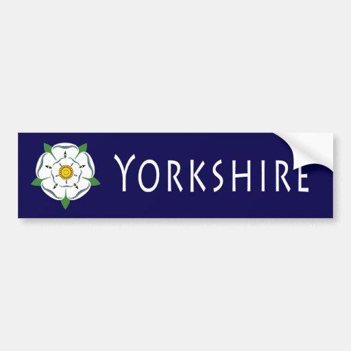 Yorkshire Rose Bumper Sticker Bumper Sticker