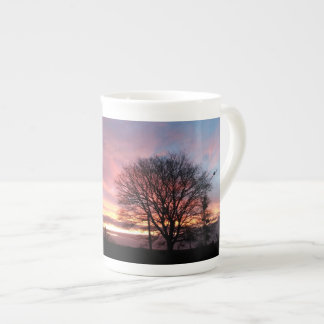 Yorkshire sunset autumn colours tea cup