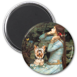 Yorkshire Terrier 17 - Ophelia Seated Magnet
