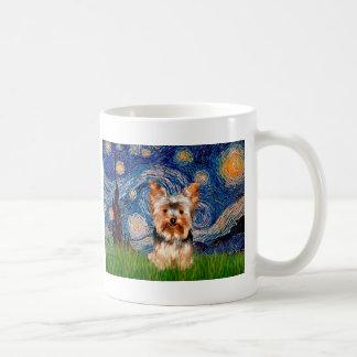 Yorkshire Terrier 17 - Starry Night Basic White Mug