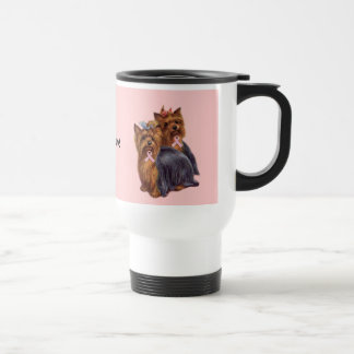 Yorkshire Terrier Breast Cancer Mug