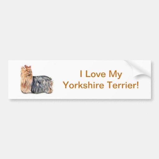 Yorkshire Terrier Bumper Stickers
