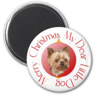 Yorkshire Terrier Christmas Magnet