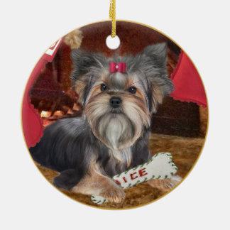 Yorkshire Terrier Christmas Ornament
